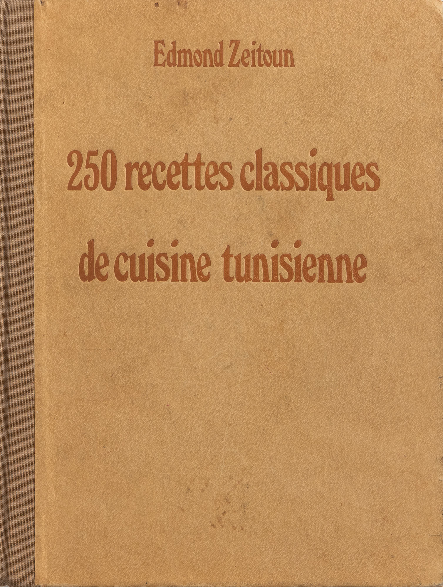 The cover of the French-language Tunisian cookbook Recettes Classiques de Cuisine Tunisienne