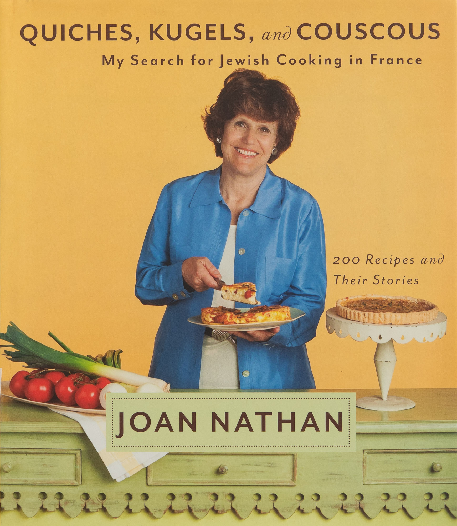 The cover of Joan Nathan's cookbook Quiches