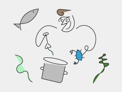 Illustration of local boillabaise