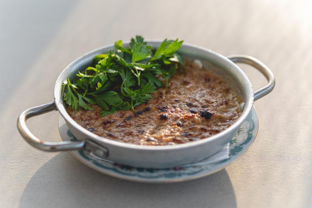 Fish Tagine: fish baked with tahini