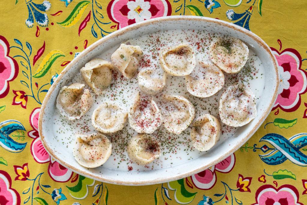 Fish Shishbarak in yogurt